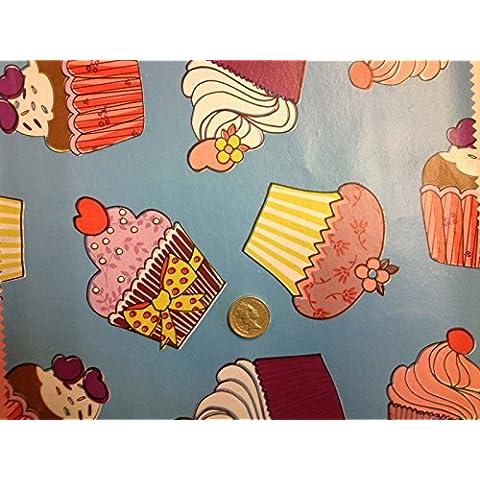 Cupcake Solid Blu facile da pulire varietà Stampe Patio Tovaglia