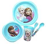 Disney Frozen 5 piezas de plástico conjunto de comida para niños