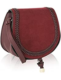 Mkf Collection Simply Elegant Saddle Bag By Mia K. Farrow (Wine)