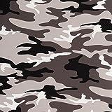 Stoff Jersey Baumwolljersey Vera Camouflage Grau 50cm x 160cm Stoff Zum Nähen Meterware