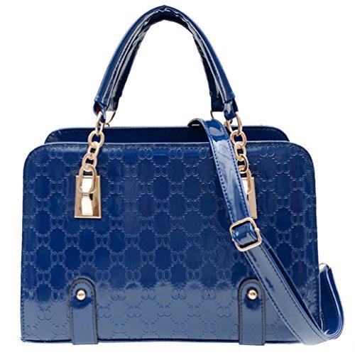 Nuovo Fashion da donna in pelle PU lucchetto a forma di borsetta borsa a tracolla