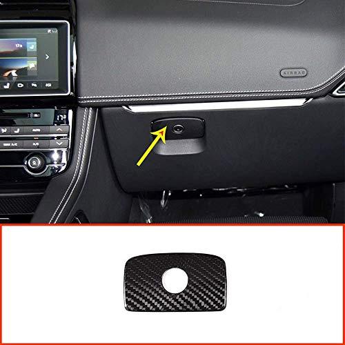 Boîte de Rangement de côté de Passager de Voiture de Fibre de Carbone de Voiture Garniture de décoration pour XE XF F-Pace X761