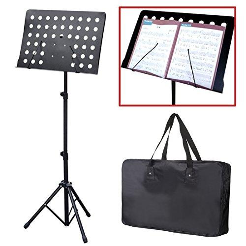 JJOnlineStore-Schwarz Orchesterpult und Tragetasche Verstellbare Stativ Sockel-mit Höhe und Winkel Anpassung