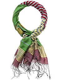 5fa2efbc907c HAPPY EDITION écharpe rayée avec franges, multicolore, 70 x ...