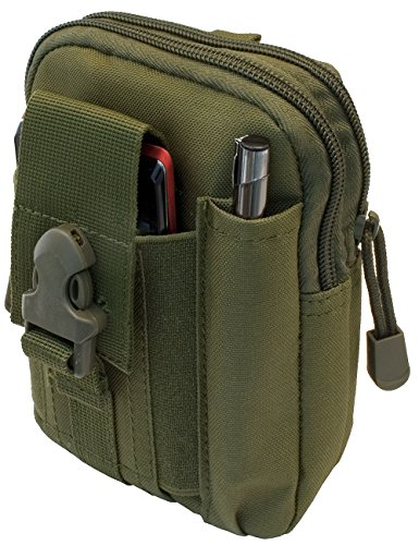 OUTDOOR SAXX® - Taktische Gürtel-Tasche Hüft-Tasche | Schutz Transport Case für Ausrüstung Handy GPS Tracker MP3 Player Messer | oliv-grün (Steigen Zigarette)