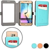 Funda Deslizable de Bolsillo tipo Cartera Cooper Cases (TM) Slider Pocket para Smartphone de HTC Desire 526G+ Dual Sim en Aguamarina