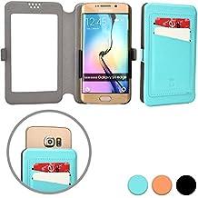 Funda Deslizable de Bolsillo tipo Cartera Cooper Cases (TM) Slider Pocket para Smartphone de ZTE Nubia Z5S/Mini, Speed, Star 1, V5 Lux en Aguamarina