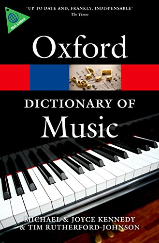 The Oxford Dictionary of Music (Oxford Paperback Reference) (Dictionary Oxford Of Dance)
