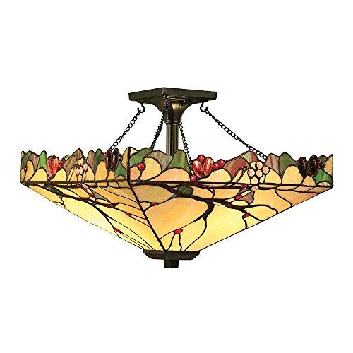 Arbois medio Tiffany Style due ciondolo di semi a livello luce di soffitto - Interiors 1900 63908