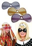 Orlob Brille Trendy zum 70er Jahre Hippie Kostüm Karneval Fasching schwarz