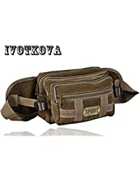 Buyworld Ivotkova Men Waist Packs Fanny Pack Belt Bag Phone Pouch Bags Travel Waist Pack Male Small Waist Bag...