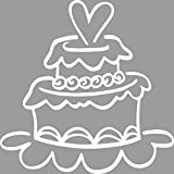 Rayher Hobby RAYHER Stempel Hochzeitstorte, Gummi, Grau, 0.6 x 0.6 x 0.25 cm