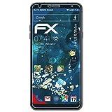 atFolix Panzerfolie für LG Q Stylus Folie - 3 x FX-Shock-Clear stoßabsorbierende ultraklare Displayschutzfolie