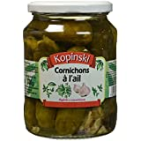 KOPINSKI Cornichons à l'Ail 680 g - Lot de 3