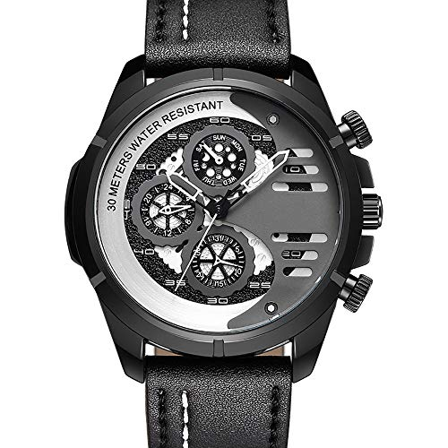 ZUZEN 2019 Mann Uhren Leder Military Armbanduhr Luxus Männliche Uhr Sport Mode Uhren männer Wasserdichte Quarzuhr,E