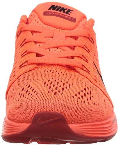 Nike Lunarglide 7, Chaussures de course femme Rouge - Rot (Hyper-Orange/Universitätsrot/Himbeerrot/Schwarz 801)