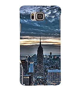 FUSON New York City Skyline 3D Hard Polycarbonate Designer Back Case Cover for Samsung Galaxy Alpha :: Samsung Galaxy Alpha S801 :: Samsung Galaxy Alpha G850F G850T G850M G850Fq G850Y G850A G850W G8508S :: Samsung Galaxy Alfa