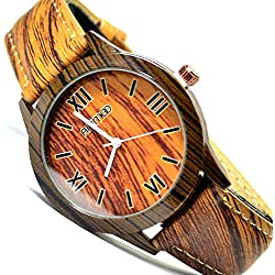 Animoo Unisex Armbanduhr in Holz Optik, Wood Look Braun Trend Fashion Uhr
