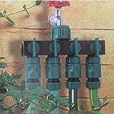Vier-Wege-Splitter Schlauch Gewinde Garten Bewässerung Wasser Rohr Stecker Schnellverbinder Adapter Wasserhahn 1-in-4-out Ventil Düse Switcher Teile Outdoor Drip Verteiler ABS Tube Anschluss Rasen