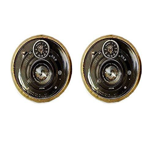 Vintage Kamera Ohrringe, Kamera Linse Ohrringe, handgefertigte Glas Ohrringe, Fotografen Ohrringe, Fotografie Geschenk