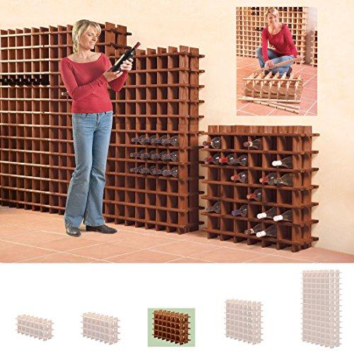 Modulares Weinregal System PRIMAVINO, für 30 Fl., Holz Kiefer dunkelbraun, stapelbar / erweiterbar...