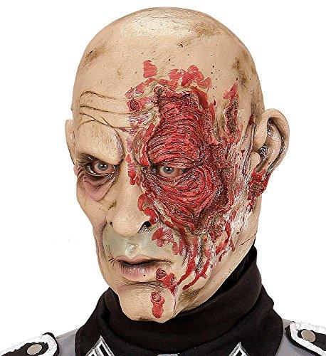 shoperama Latex-Maske World War Zombie General Halloween Horror Weltkrieg Horror Soldat (Soldat Zombie Maske)