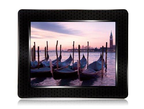 Transcend Digitaler Bilderrahmen (20,3 cm (8 Zoll) Display, 4GB interner Speicher, Videowiedergabe, integrierter MP3-Player, Kartenleser) schwarz