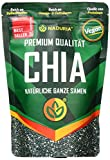 Naduria Premium ganze schwarze Chia Samen 3 x 500 Gramm