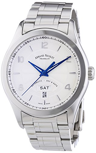 armand-nicolet-mens-automatic-watch-with-silver-dial-analogue-display-and-silver-stainless-steel-bra