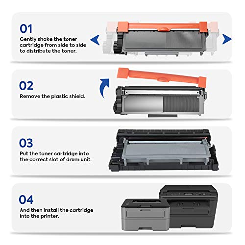 globaltoner TN660 tn630 High Yield Toner Cartridge compatible para Brother  MFC-L2700DW L2720DW L2740DW HL-L2340DW L2300D l2360dw l2380dw L2500D