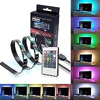 iRegro Ruban à LED pour HDTV Rétroéclairage TV USB, Home Cinéma Kit d'éclairage d'accentuation avec télécommande, 2 RGB Multi Color Led Light Strip