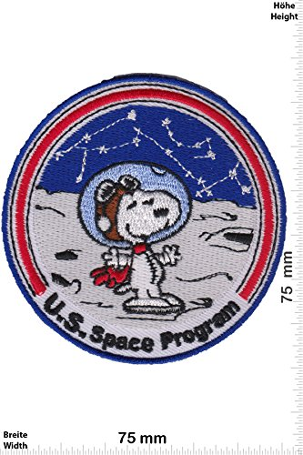 . Space Program - Cartoon - Snoopy - Aufnäher - zum aufbügeln - Iron On ()