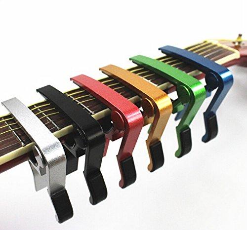 Domire Kapodaster für Gitarre (Single, für Linkshänder Golden