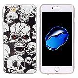 SmartProtectors! Softcase aus TPU / Hülle / Cover / Case / Schutzhülle Skull Totenkopf Schädel / leuchtet im dunkel für Apple iPhone 6 und 6S