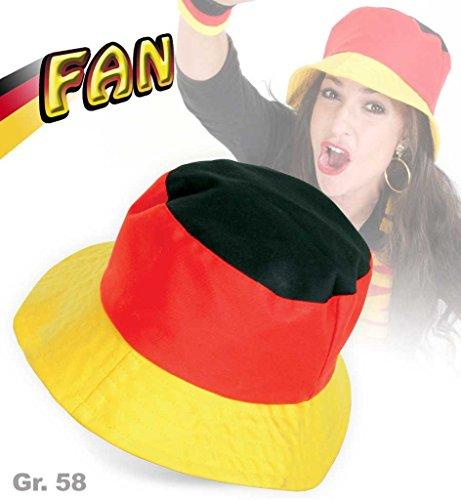 Hut FAN Gr. 58 cm Anglerhut, Kopfbedeckung Deutschland Fußball WM EM Narren