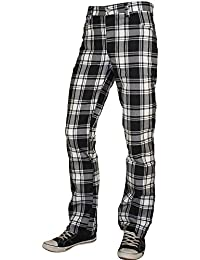 Tartan Pure Classic Style Hose Weiss