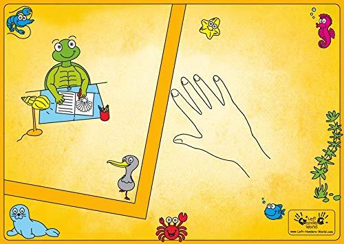 """Linkshänder Schreibunterlage """"Molli"""": Schreibtischauflage zum Linkshänder Übungsheft"""