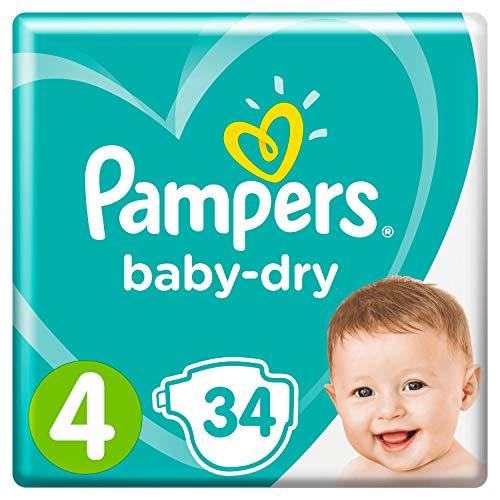 Pampers Baby-Dry, für Atmungsaktive Trockenheit, Gr.4, 34Windeln