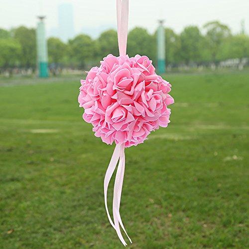 Guoyihua Blumenkugeln für Hochzeit, dekorative Blumen, künstliche Schaumstoffblumen, Rosenkugeln für Hochzeit, Tischdekoration, Schaumstoff, rose, 14 cm