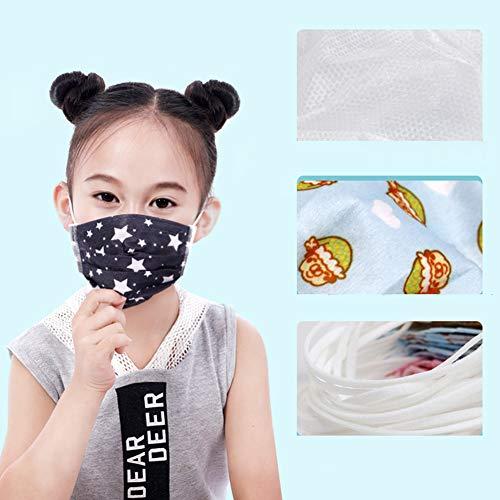 XDLYM Mascarillas Desechables para niños,  máscaras Anti- Niebla y la bruma Respirables a Prueba de Polvo de Las Mujeres,  niños Lindo bebé Infantil del Muchacho máscaras Especiales