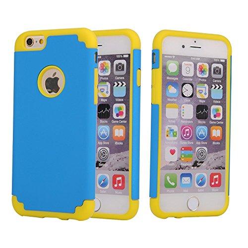 iPhone 6S Plus-Fall,iPhone 6 Plus-Kasten,Lantier dünner dünner Slick Rüstung Hybrid [Corner Schutz] Dual Layer Shockproof Silikon-harter Fall für Apple iPhone 6 Plus / 6S plus 5,5 Zoll (Red + Deep Blu Yellow+Blue