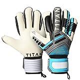 Torwarthandschuhe Nitro NC Neo von T1TAN | Torwart Handschuhe in Profi-Qualität mit Innennaht Schnitt, elastischer 2-fach Bandage und 4mm Gecko Grip - Gr. 10 Farbe sky blue