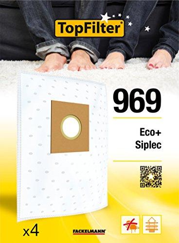 TopFilter 969, 4 sacs aspirateur pour Eco + et Siplec boîte de sacs d'aspiration en non-tissé, 4 sacs à poussière (30 x 26 x 0,1 cm)