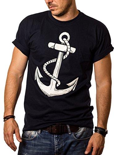 Herren T-Shirt mit Aufdruck ANKER Größe XXXL (Mit Tattoos T-shirts)