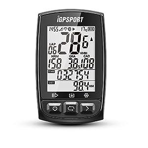 """iGPSPORT iGS50E (versión española) - Ciclo computador GPS bicicleta ciclismo. Cuantificador grabación de datos y rutas. Pantalla 2.2"""" anti-reflejo. Conexión Sensores ANT+/2.4G. Bluetooth IPX7"""