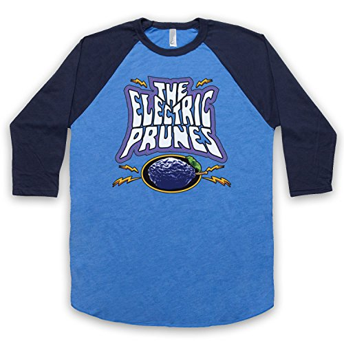 The Guns Of Brixton Electric Prunes Band Logo 3/4 Manches Retro T-Shirt de Base-Ball