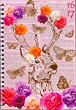 A5 WIRO DESIGNER ACADEMIC DIARY WEEK TO VIEW 2016-17 - 3899 ROSES & STAG