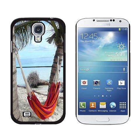 Tropical Beach Hamac–Palm Trees Océan–Coque de protection rigide à clipser pour Samsung Galaxy S4–Noir
