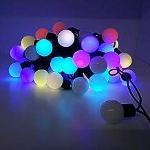 Guirnalda Luces LED para Interior 3W, 50Bombillas Led, 5 metros decable(tipo Bolas) Color RGB, Decoración Navidad, Restaurantes, Terrazas, Bares, Decoración Hogar, BarcelonaLED B62000RGB
