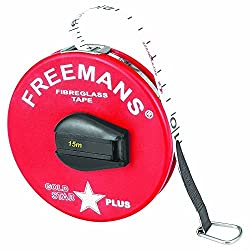 FREEMANS GOLD STAR PLUS - FIBRE GLASS - PLASTIKA - MEASURING TAPE 15 METER